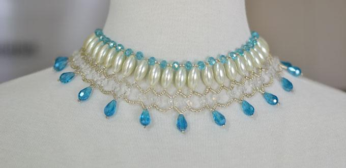 8fef1afb2d How to Make a Unique Beaded Necklace with Pearls and Crystals for Brides-  Pandahall.com
