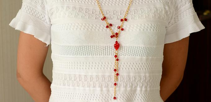 Jewelry Tutorial for Beginners -How to Make a Beaded Chain Necklace