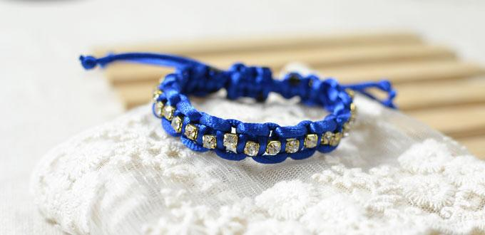 How to Make a Braided Cord Bracelet with Beads and Knots