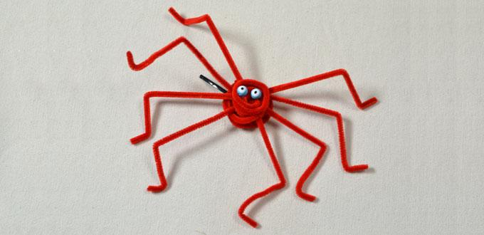 Cheap and Easy Halloween Ideas – How to Make a Spider Hair Clip