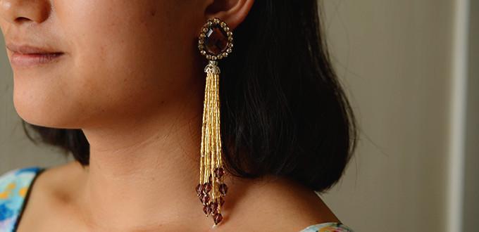 Pandahall Tutorial - How to Make a Pair of Handmade Gold Tassel Earrings