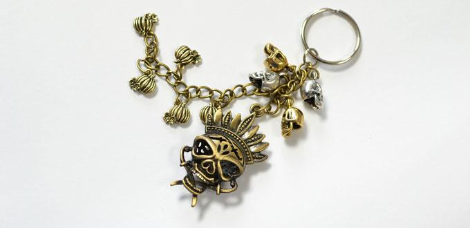 Easy Craft Ideas For Halloween Making A Vintage Skull Key Chains With Dangles