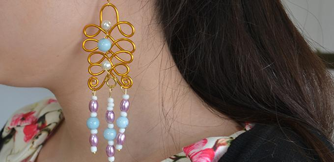 Pandahall Wire Wrap Earring Tutorial - How to Make a Pair of Elegant Drop Earrings