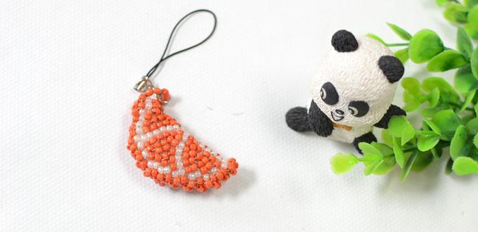 Pandahall Tutorial - How to Make a Cute Orange Beaded Stitch Keychain
