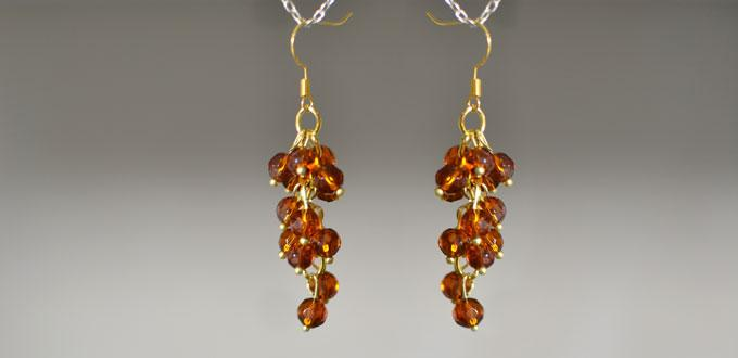 Easy Diy Project How To Make Your Own Cute Brown Bead Drop Earrings