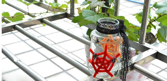 Easy Halloween Decoration - Lantern Making Ideas for Kids