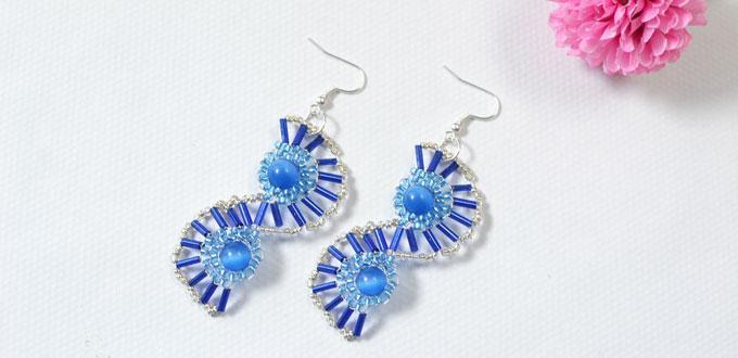 DIY Earrings Tutorial - How to Create a Pair of Shine Blue S-shaped Earrings