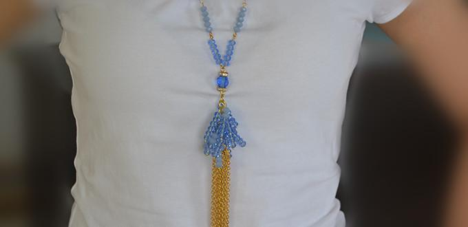 Tutorial for Green Hands - How to Make a Long Beaded Tassel Necklace