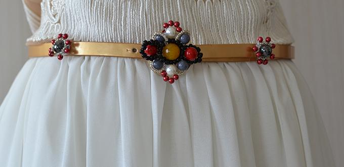 Recycled Fashion Idea - How to Make a Beaded Flower Leather Belt