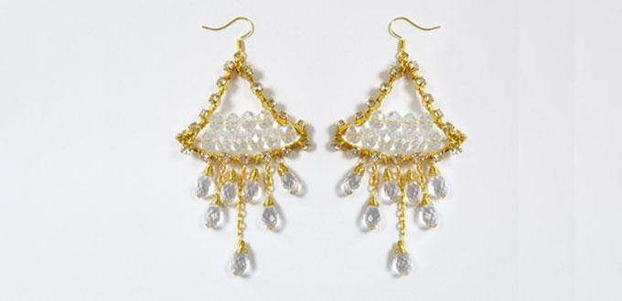 4 Steps on How to Make Gold Beaded Drop Earrings At Home