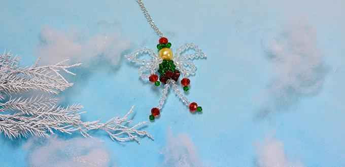 Christmas Angel Jewelry Design – How to Make a Beaded Angel in Red and Green