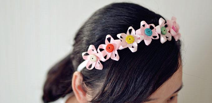 Pink Flower Headband - How to Make Flowers for Hair Accessories