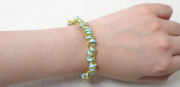 Bracelet Making for Beginners on How to Make Easy Thread Bracelets with Gold Chain