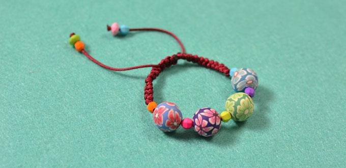 How to Make a Handmade Braided Cord Bracelet with Polymer Clay Beads