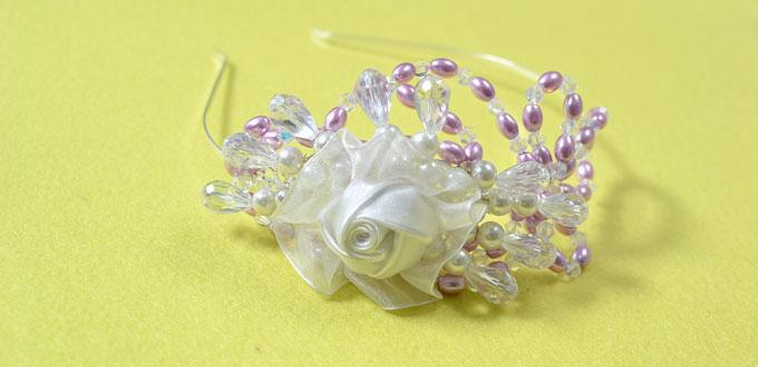 A Detailed Tutorial on How to Make Headbands for Girls with Organza Flowers and Beads