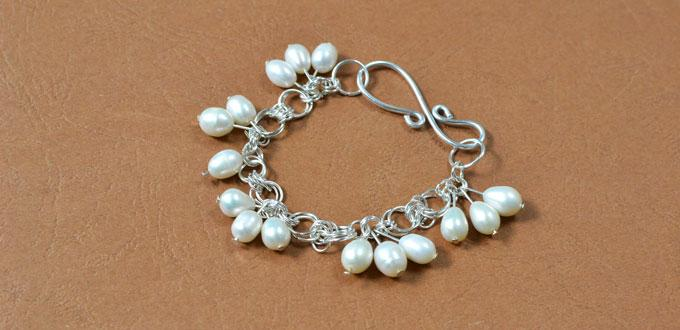 Free Tutorial on How to Make a Jump Ring Bracelet with Pearl Dangles
