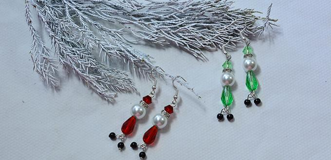 Easy Handmade Christmas Bead Earrings Tutorial