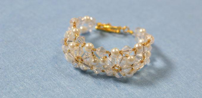 Bead Bracelet Designs to Make - How to Make a Beaded Flower Bracelet