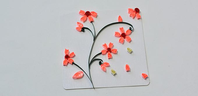 How to make lifelike paper quilling plum flowers cards step by step how to make lifelike paper quilling plum flowers cards step by step mightylinksfo