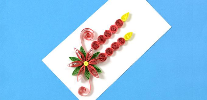 How to make new year paper quilling greeting cards pandahall how to make new year paper quilling greeting cards m4hsunfo
