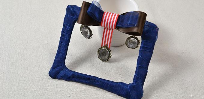 Handmade Home Decor Craft – Ribbon Photo Frame with Bow Ornament
