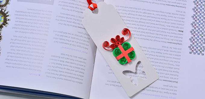how to make quilling paper new year greeting card with gift box design