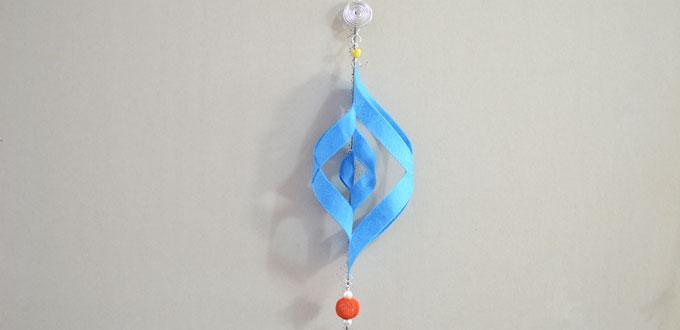 Pandahall Tutorial on How to Make Blue Felt Christmas Hanging Ornaments