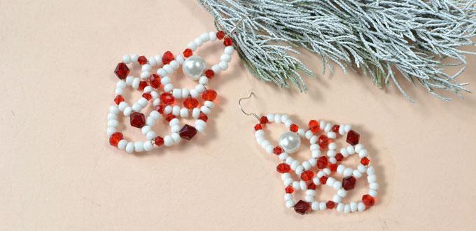 Pandahall Tutorial - How to Make a Pair of Christmas Santa Clause Earrings