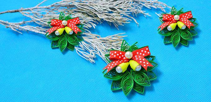 pandahall tutorial how to make quilling paper christmas decoration crafts