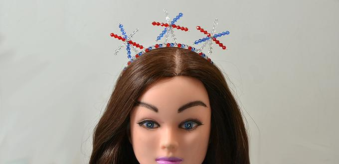 Easy Hair Accessories to Make for Kids – New Year Glass Bead Star Headband