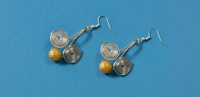 Pandahall Tutorial on Making Easy Wire Wrapped Drop Earrings for Beginners