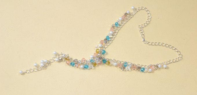 How to Make Valentine's Day Chain Necklaces with Glass Beads