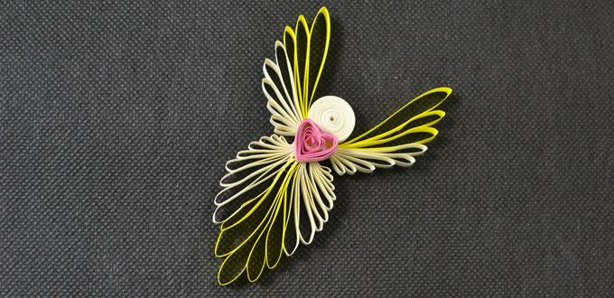 Instructions on How to Make Easy Quilling Angels for Kids