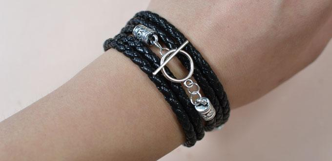 How to Make Valentine's Day Braid Leather Bracelets for Men