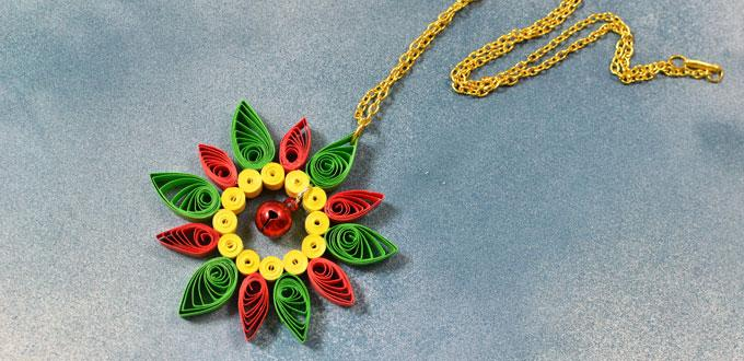 Instructions On How To Make Quilling Paper Flower Pendent Necklace