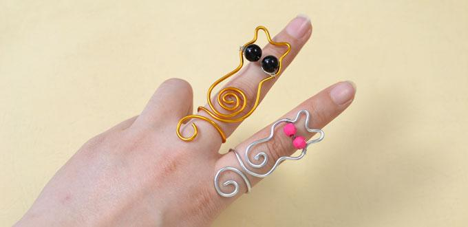 How to Make Easy Aluminum Wire Wrapped Cat Rings for Kids