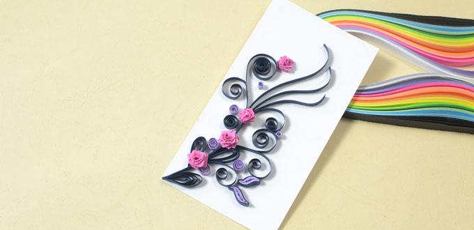 How To Make A Handmade Quilling Paper Rose Card For Valentine S Day