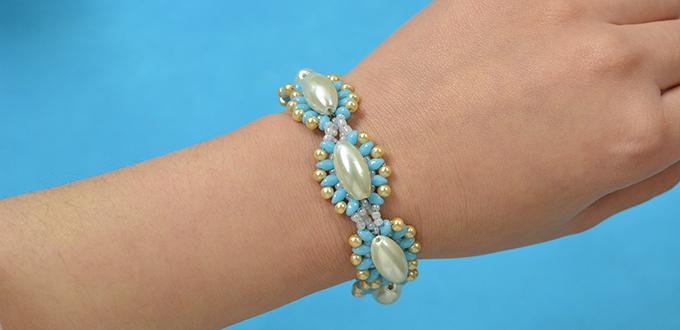 How to Make Girl's Beading Bracelets with Pearl and Seed Beads