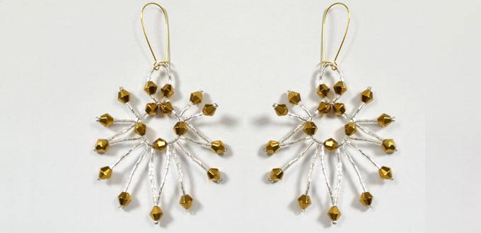 How to Make Hoop Earrings with Silver and Gold Beaded