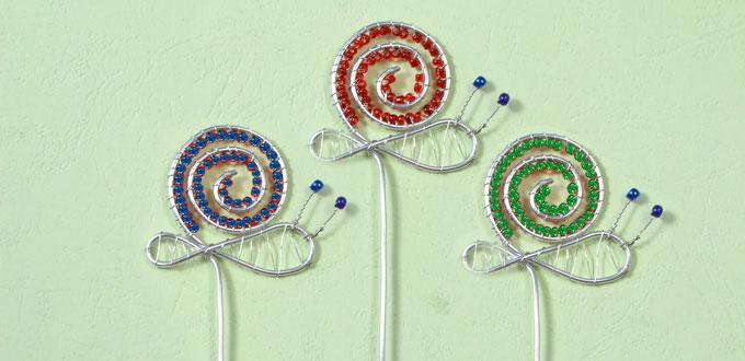 Pandahall Tutorial on How to Make Easy Wire Wrapped Snail Bookmarks