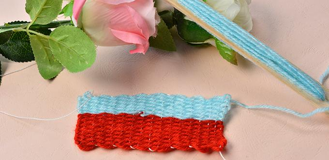 Explanation on How to Make Basic Knitting Stitches with Square Knitting Loom ...