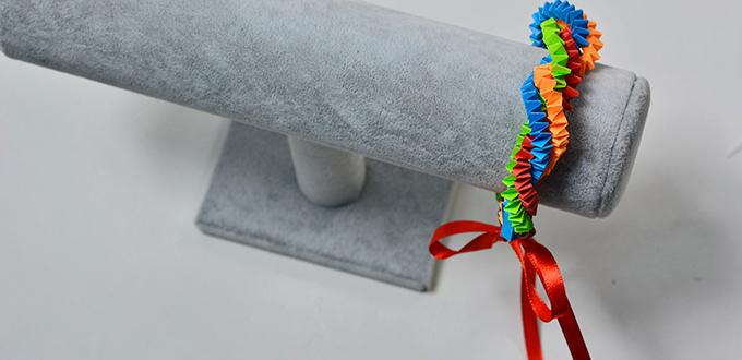 c1a6402a108cdb Pandahall Tutorial - How to Make an Easy Colored Quilling Paper Bracelet  for Kids - Pandahall.com