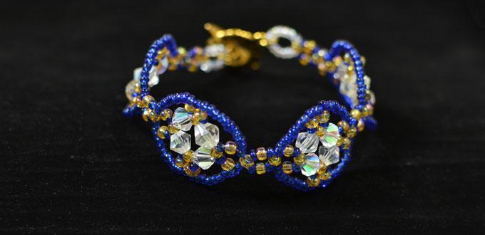 Pandahall Tutorial - How to Make a Handmade Blue Seed Beaded Bracelet