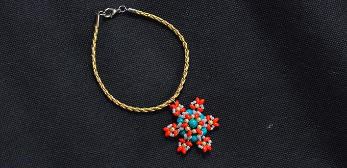 How To Make A Leather Cord And Two Hole Seed Bead Flower