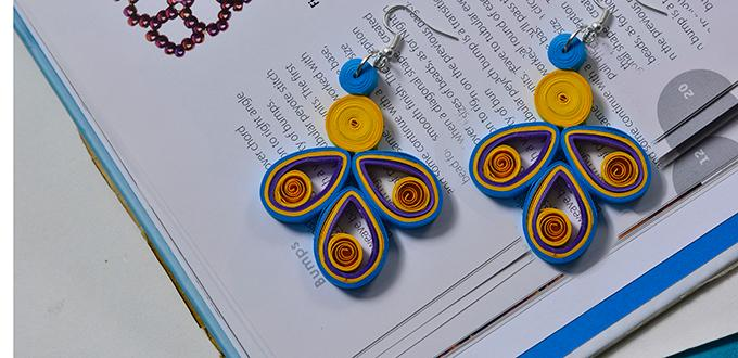 How To Make Easy Orange Quilling Earrings For S