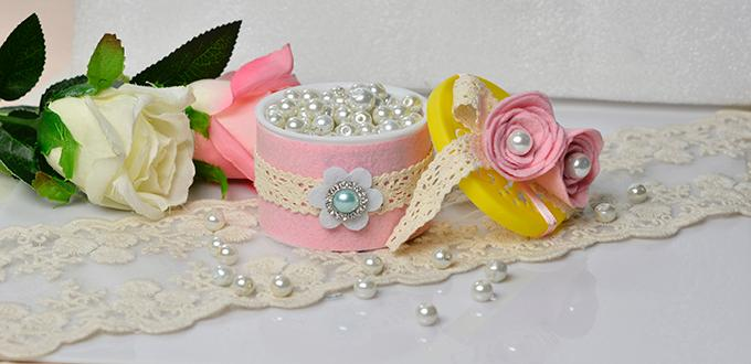 Recycling Crafts Video How to Make a Delicate Jewelry Box from Old