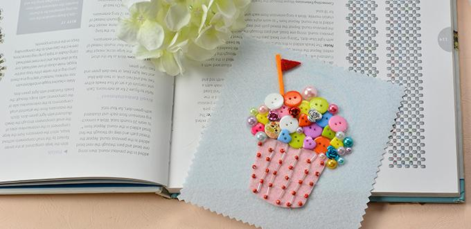 How to Make a Cute Colorful Acrylic Button Ice Cream Craft for Summer Day
