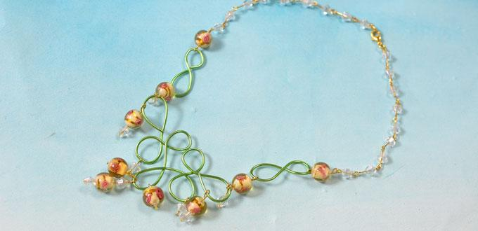 Pandahall Tutorial on How to Make a Handmade Wire Wrapped Bead Necklace