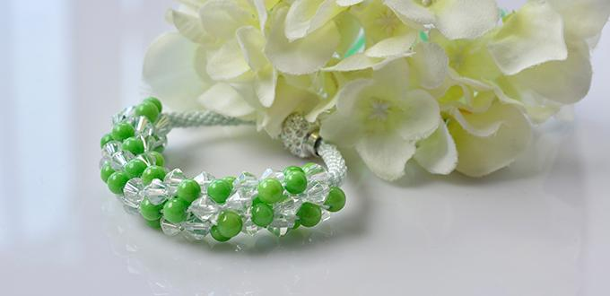 Pandahall Kumihimo Bracelet Tutorial - How to Make a Handmade Green Bead Kumihimo Bracelet