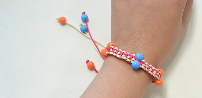 how to make nylon threads friendship bracelet with acrylic